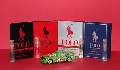 Ralph Lauren Men's Cologne Samples:  Polo Red, Red Rush, Ultra Blue, Extreme, ++