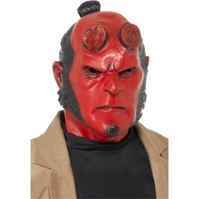 Hellboy-maske - Mask Hellboy Rubber Smiffys Halloween Fancy Dress