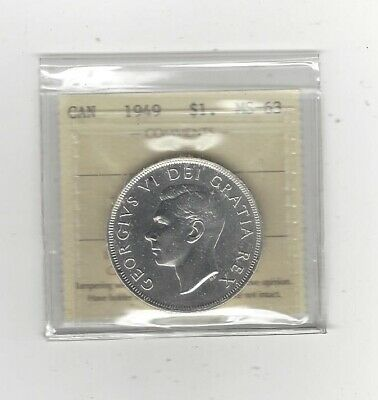 Graded by ICCS Canada Silver Dollar 1939