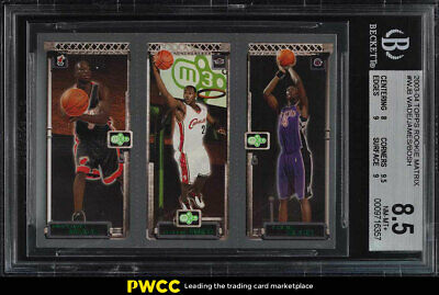 2003 Topps Matrix LeBron James Dwyane Wade Chris Bosh ROOKIE RC BGS 8.5 (PWCC)