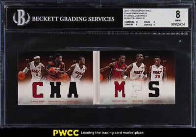 2012 Panini Preferred Champs LeBron James Dwyane Wade Bosh PATCH /199 BGS 8 PWCC