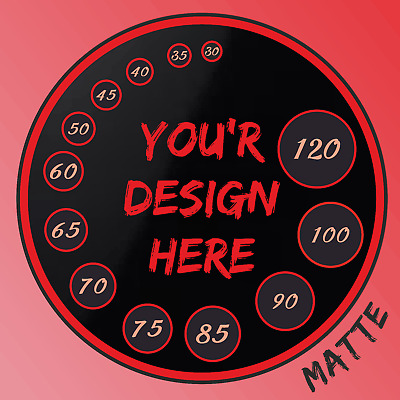 15 sizes Personalised Custom printed round stickers, labels, logo, text, design