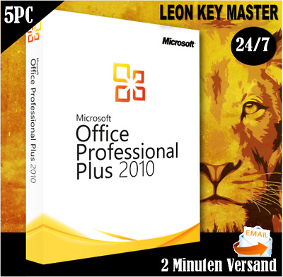 MS Office 2010 Pro Plus 1/5 PC ✔ Professional Plus ✔ 32&64 Bits ✔Per E-Mail
