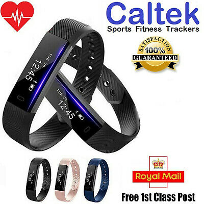 Sports Fitness Tracker Heart Rate Monitor Step Activity Smart Fit#Bit Watch
