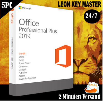 Microsoft Office 2019 Professional Plus 1,5PC - Pro Plus 32&64 Bits, Per E-Mail