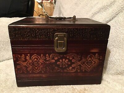 Vintage, Oriental Carved Wooden Box