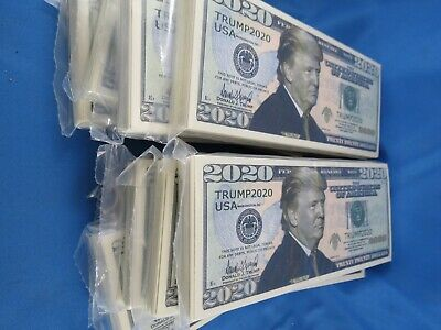 Wholesale Lot Of 1000 Trump 2020 Novelty Money Usa Banknote President $20 Twenty