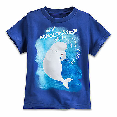Disney Store Finding Dory Nemo, Bailey Boys T Shirt Tee Toddler Size 2/3 NWT
