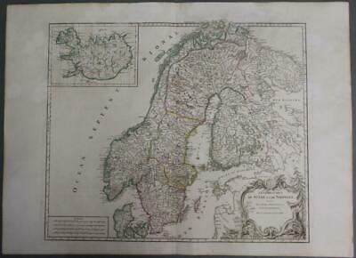 Sweden Norway Finland Iceland 1797 Vaugondy & Delamarche Antique Engraved Map