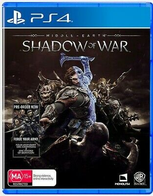 Middle Earth: Shadow Of War PS4 Playstation 4 Brand New Sealed