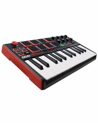 AKAI Professional MPK Mini MKII | 25-Key Portable USB MIDI Keyboard With 8 Pads,