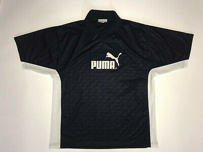 Puma Retro Vintage Soccer Football Sports Shirt Jersey 1990s casuals rave