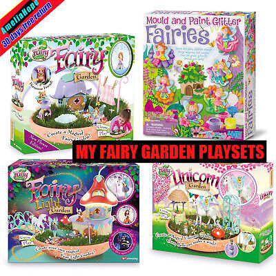 Fairy Garden Playset Grow Play Light Enchanted Home Magic Bean Pot Unicorn Kids