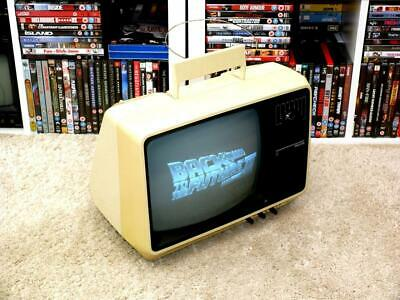 "Vintage 1980s Philips 12TX2460 12"" Portable Television ~ Working Fine"