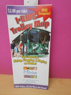 Route Maps, Bus & Coach, Transportation Collectables, Collectables on disney map, orange county florida district map, i trolley orlando stops, san diego trolley stops map, i trolley universal studios orlando, international drive restaurant map, the plaza las vegas map,