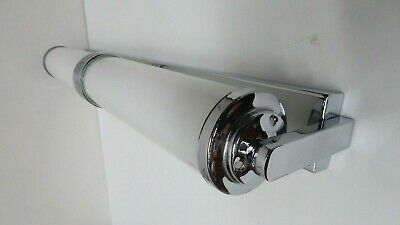 Art Deco Style Chrome Milk Glass Cylinder Wall Light