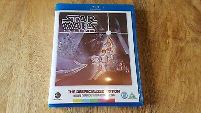 Star Wars Original Trilogy The Despecialized Edition Blu Ray 4 Disc UK Edition