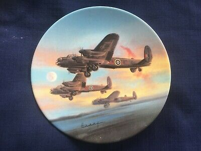 """Royal Worcester The Dambusters """"The Take-Off """" plate"""