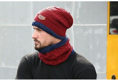 bc80845ab BEANIE HAT CAP Autumn Fall and Winter Warm Knit One Size Unisex ...