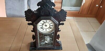 Early 20th Century ANSONIA Mantle Shelf Chiming Clock with Keys.