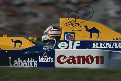 Nigel Mansell Hand Signed 12x8 Photo - Williams F1 Autograph 12.