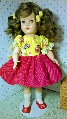 "LADYBUG DRESS, PANTIES by SSO DOLL CLOTHES for 14"" P-90 TONI/ HONEY/15"" SHIRLEY"
