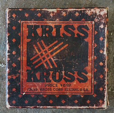 Vintage Kriss Kross Stropper Safety Razor Blade Sharpener w/Box