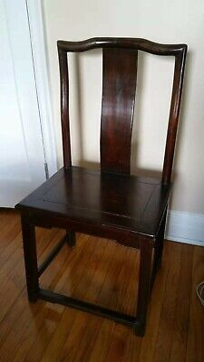 Antique Wood Dinning Chair (4 Chairs Set) - Red Wood