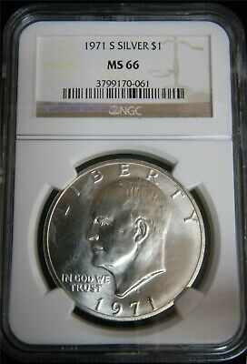 1971-S Eisenhower Silver Dollar NGC MS 66 #A1