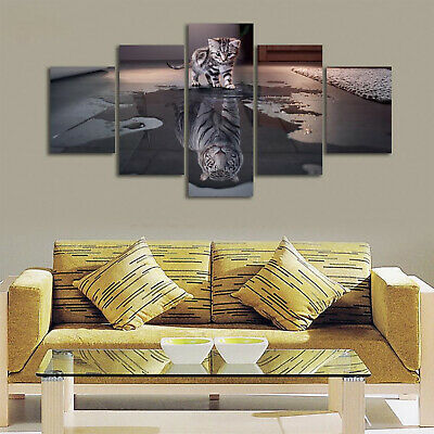 5Pcs Unframed Modern Abstract Canvas Wall Art Print Canvas Picture Home Decor
