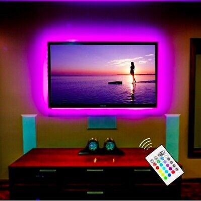 Universal LED Strip Light for TV/Computer Screens with Remote Control