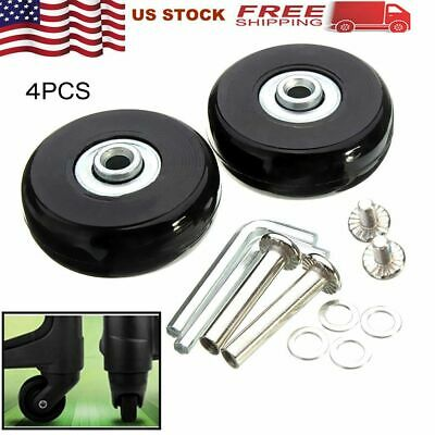 4 Set Luggage Suitcase Wheels Axles Replacement Quietness Flexibility OD 60mm US