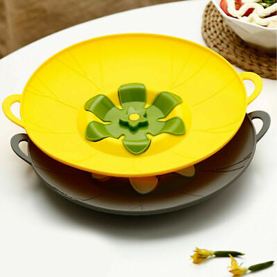Handy Lid Cover Silicon Spill Stopper Mulitifunctional Cooking New Kitchen AU