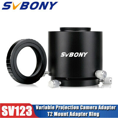 SV123 Camera Adapter Spotting Scope+Canon DSLR+SLR Cameras T2 Mount Adapter Ring