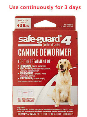 Safe-Guard Canine Dewormer for Dogs, 3-Day Treatment,100% Original,Quick Arrive