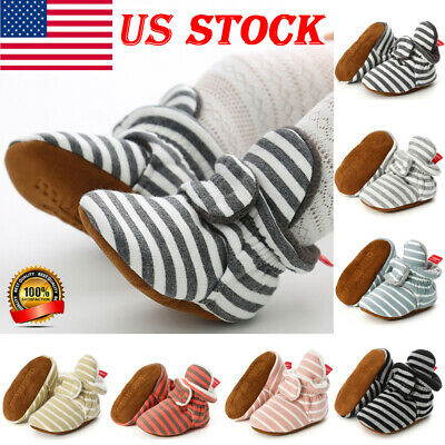 0-18M Newborn Baby Boy Toddler Casual Strap Cotton Soft Bottom Crib Shoes Boots