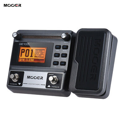 High Quality MOOER GE100 Guitar Multi-Effects Effect Pedal Loop Recording R4S6