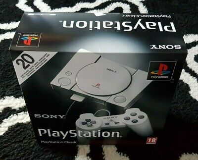 PSX PS1 PS One Playstation Classic mini HK Console+ 2 Controller +20 Games *NEU*