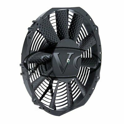 """NEW 12/"""" 12v RADIATOR FAN LOW PROFILE HIGH OUTPUT BLOW SUCK"""
