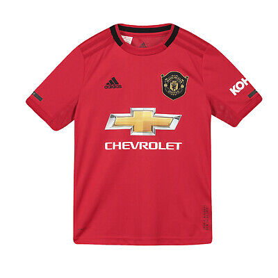 Manchester United FC Official Football Gift Boys Home Kit Shirt 2019 2020