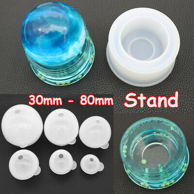 Crystal Ball Stand Resin Casting Mold Silicone Jewelry Making Epoxy Mould Craft