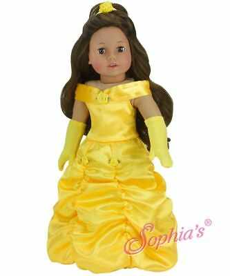 "Belle Halloween Princess Dress 3 Costume Beauty Beast for 18"" American Girl Doll"