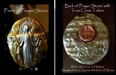Byzantine True Cross Clay Prayer Stone Made from the Original dating to 630 A.D