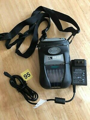 Zebra RW-220 WiFi  Mobile Thermal Printer Excellent Working Condition