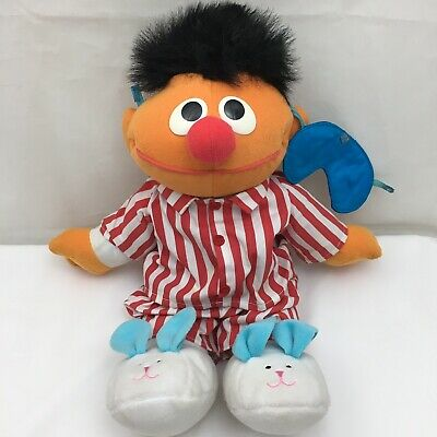"Sing And Snore Ernie Sesame Street Interactive Vintage 1996 TYCO Plush 16"" Toy"