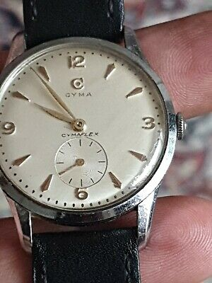 Cyma Cymaflex mens Watch Vintage 1940 working  order