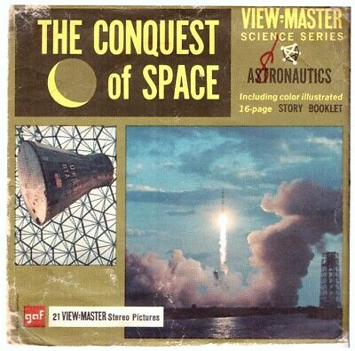 3 VIEW-MASTER 3D Reels📽️THE CONQUEST OF SPACE,Astronautics,B 681,Science Series