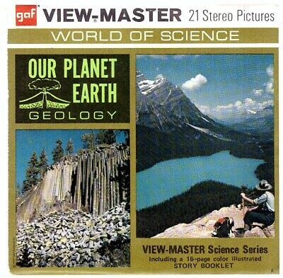 3 VIEW-MASTER 3D Reels📽️OUR PLANET EARTH, B 675, World of Science,GEO,lehrreich