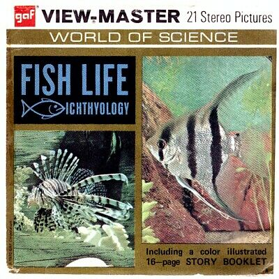 3 VIEW-MASTER 3D Reels📽️FISH LIFE, Ichthyology,B 679,World of Science,lehrreich