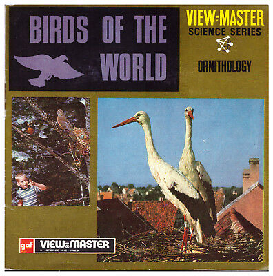 3 VIEW-MASTER 3D Reels📽️BIRDS OF THE WORLD,B 678,ORNITHOLOGY,Vogelkunde,SCIENCE